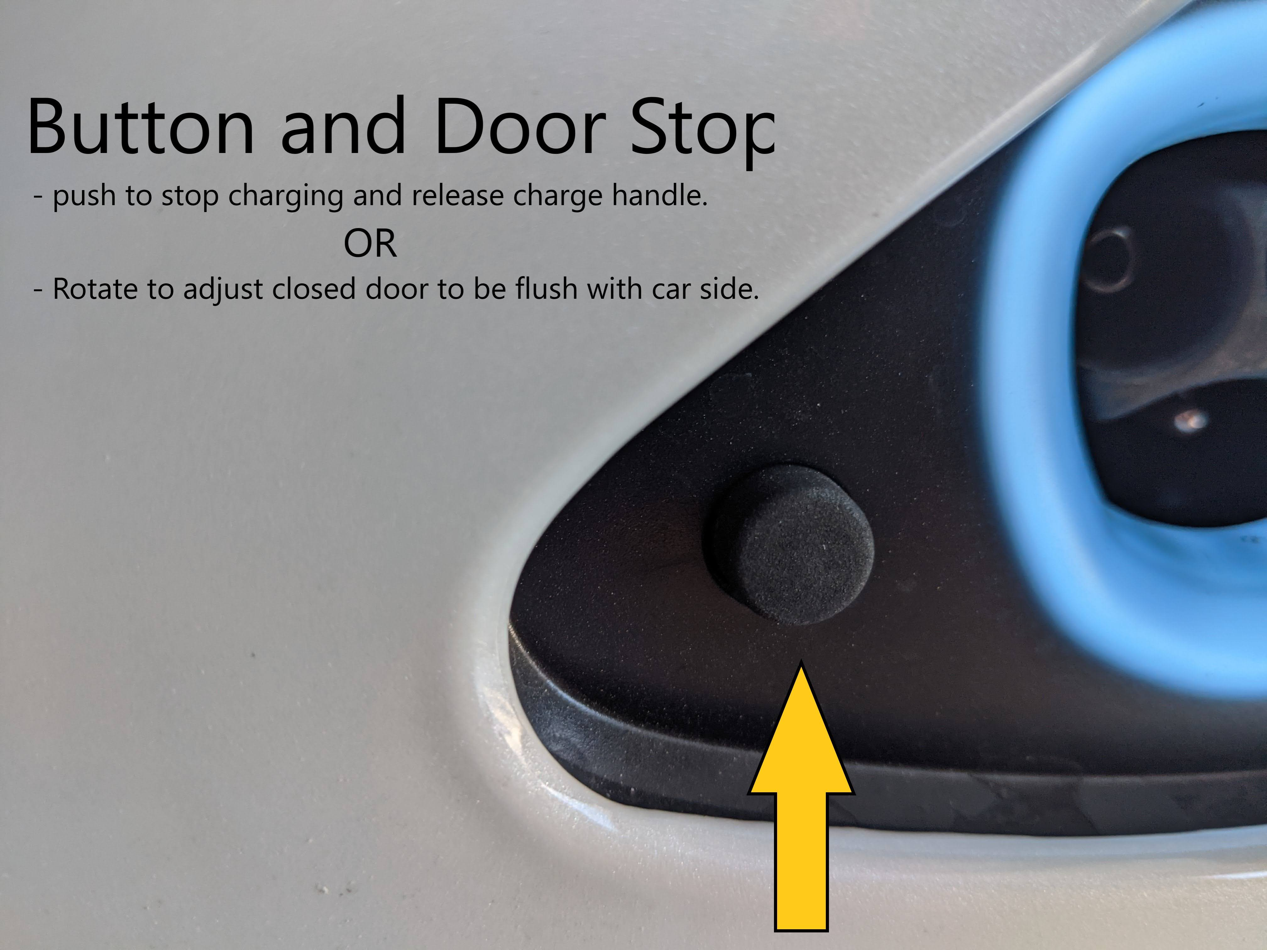 Charge port button