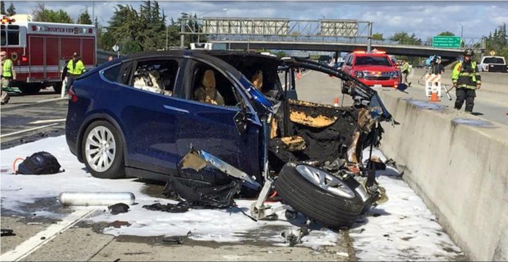 Fontana, California Tesla crash
