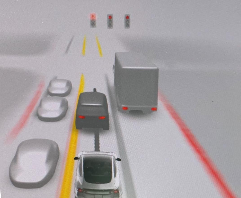 FSD Beta shows brake lights