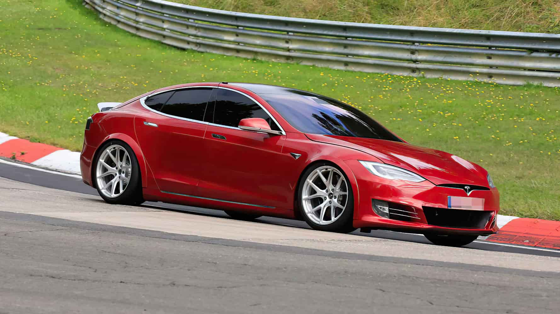 Tesla Model S with wider body