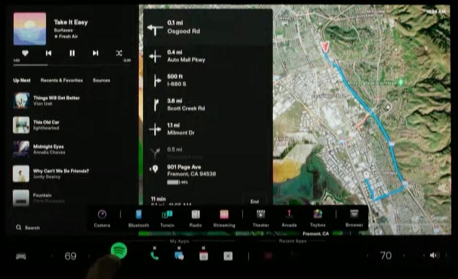 Model S Plaid Software