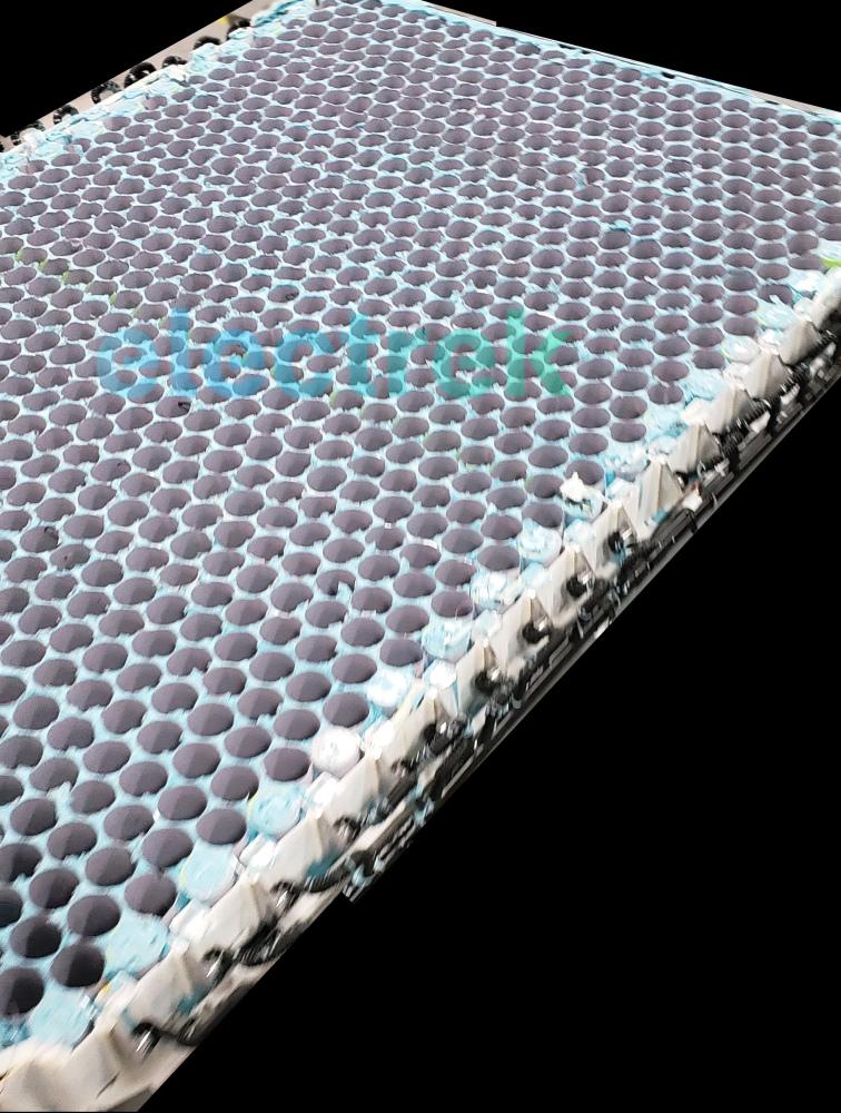 Tesla honeycomb battery shape