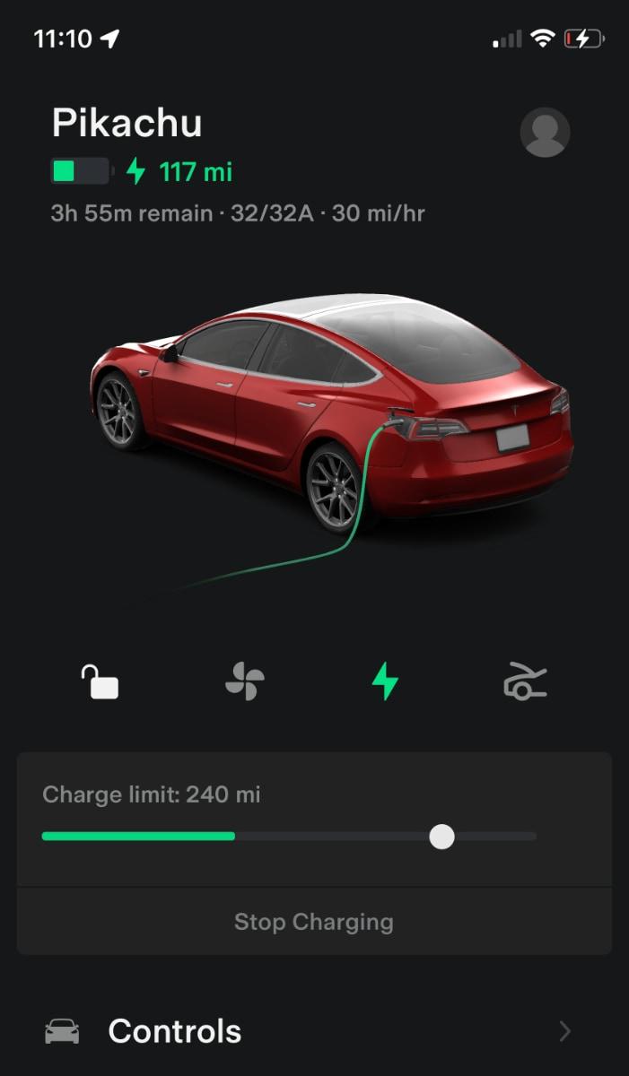 New Tesla App