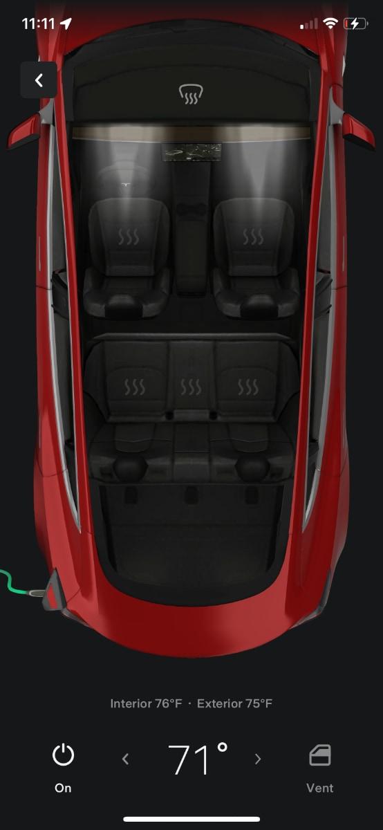 New Tesla App Climate