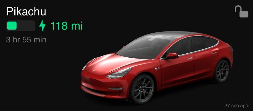 New Tesla App Widgets