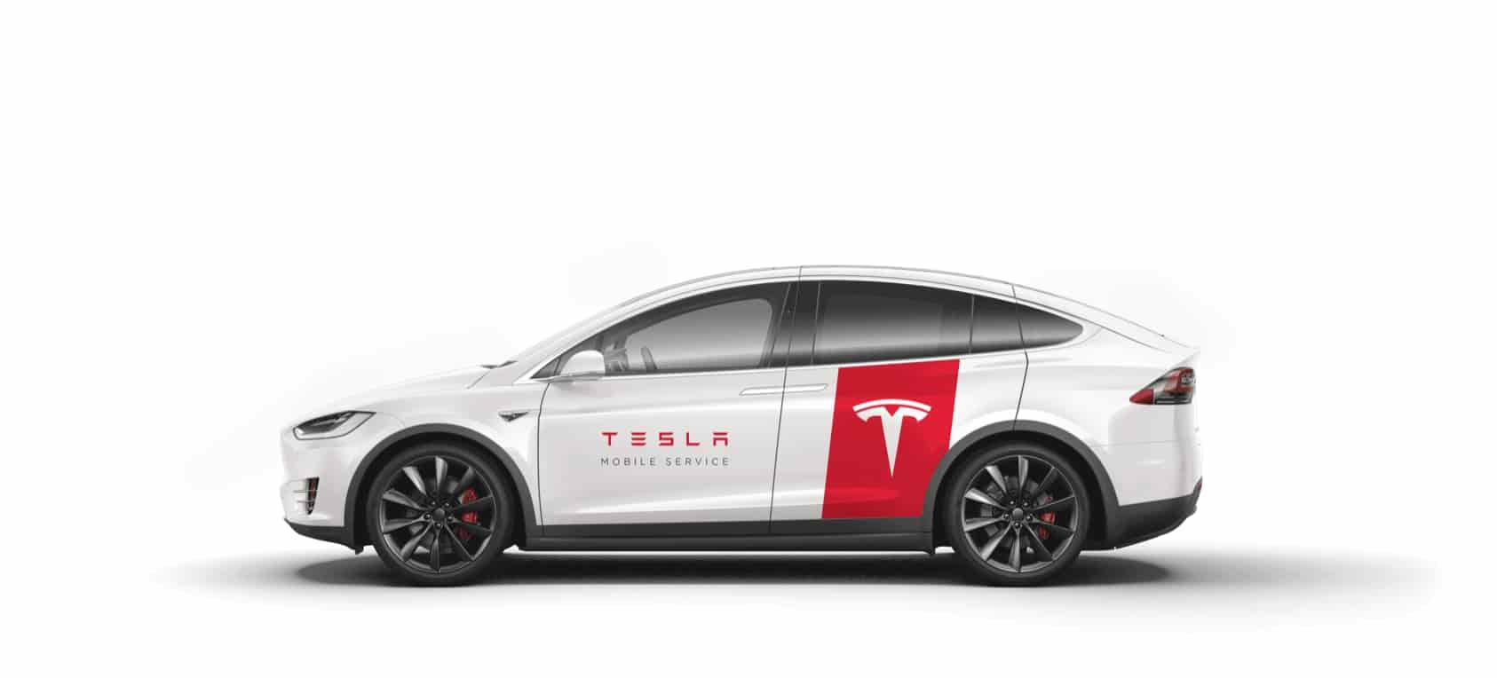 Tesla service vehicle