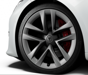 Tesla Plaid and Plaid+ tire sizes and make are visible in the Tesla Configurator.