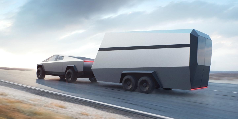 Tesla's Cybertruck trailer concept